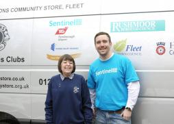 Bev and representative of Sentinel, one of our sponsors